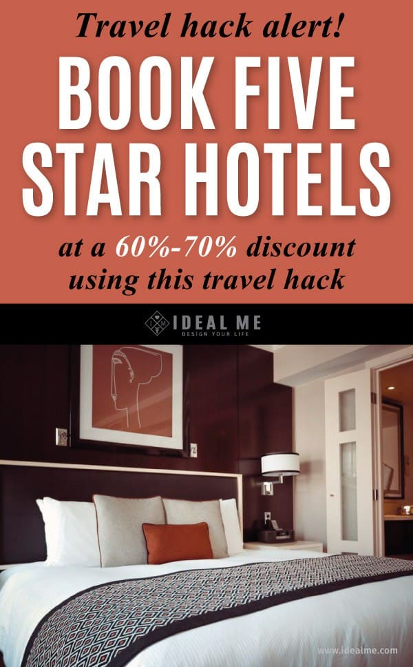 Want to book a five star hotel anywhere in the world at a 60-70% discount? Learn how with this clever and easy travel hack.