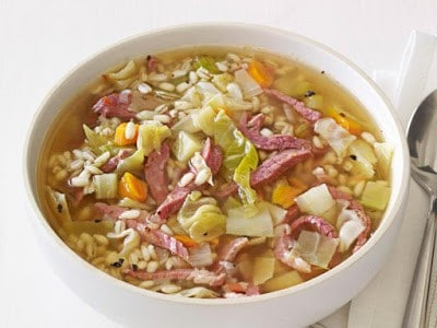 Ham and Cabbage Soup - Canning homemade soupscanhelp you save money, gain control over what's in your food, and save you time when you need a quick meal. Make your own canned soup with one of these delicious twelve recipes today.