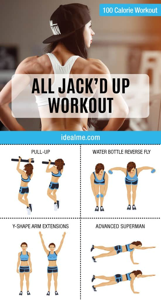 Get ready because this back workout is going to have you feeling all jack'd up…in a good way! This workout features 4 exercises that target the entire back.