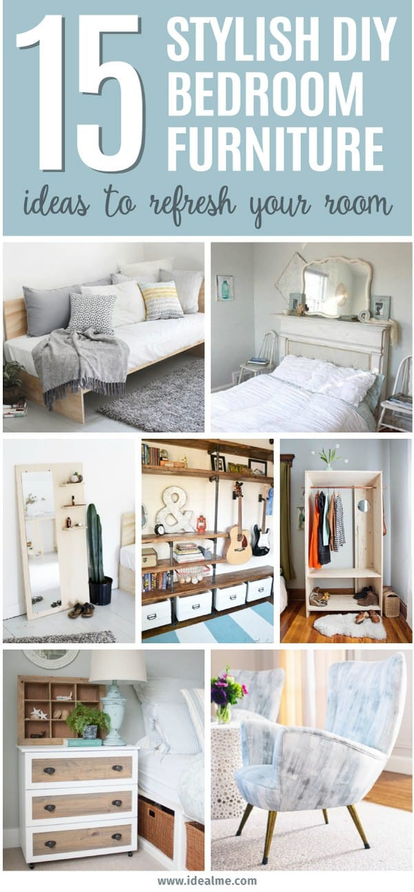 We've found 15 of our favorite stylish DIY bedroom furniture ideas to update and refresh your room - maybe something you can even tackle this weekend!
