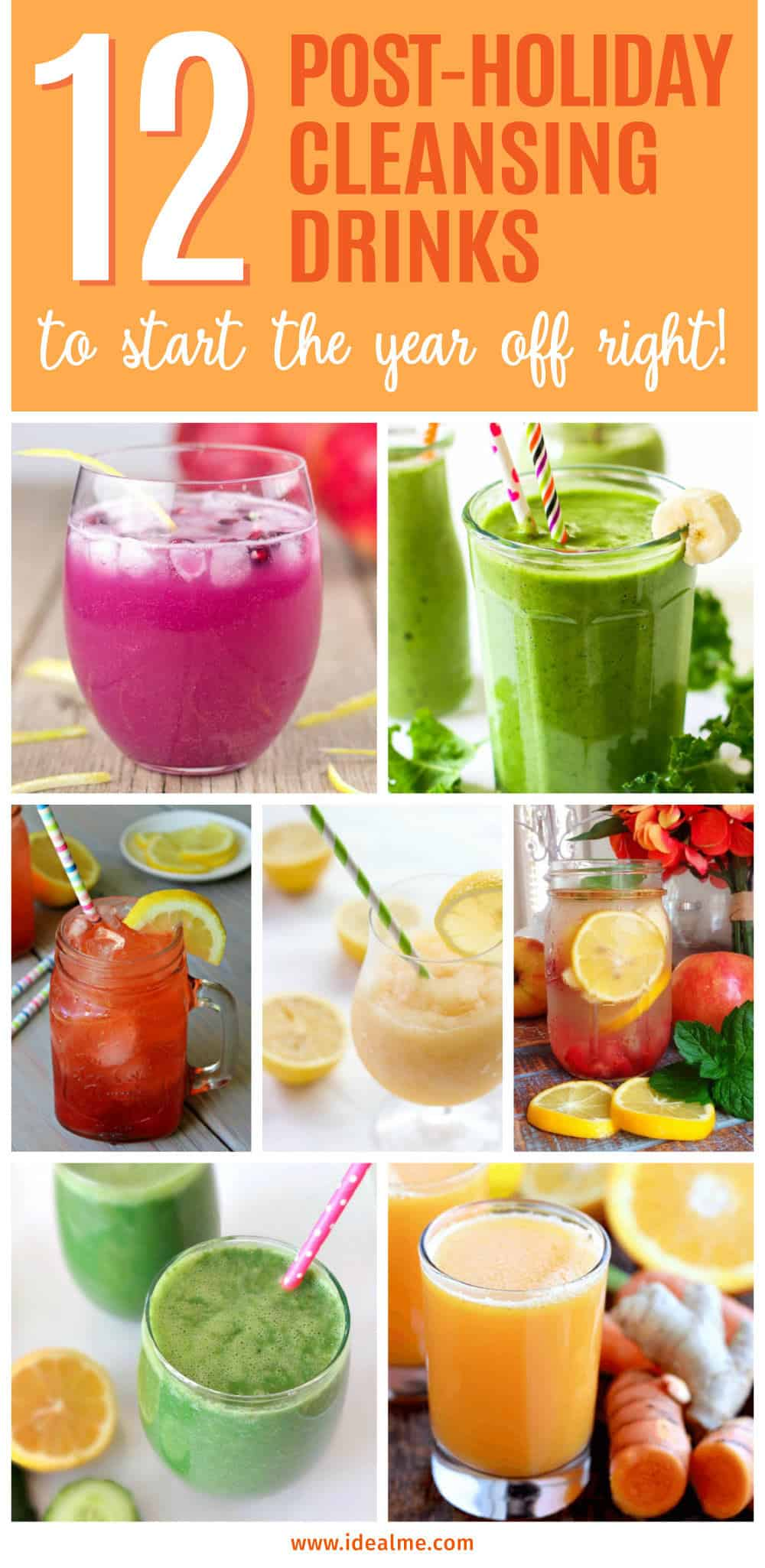 Detoxing with drinks is a great way to lose weight and give your system a break from unhealthy food. Here's our list of post-holiday cleansing drinks