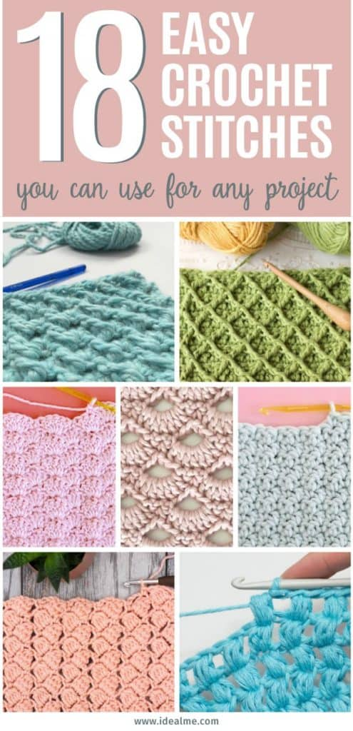 If you're ready to give crochet a try, we've got you covered. We've found 18 easy crochet stitches you can use for any project to get you started.