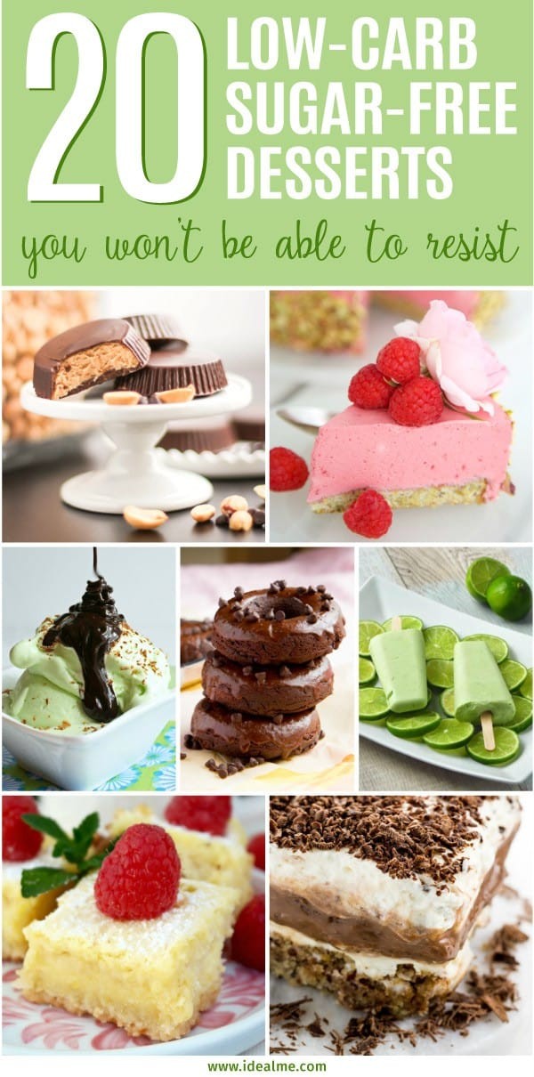 We've found some fun and tasty recipes like truffles, pie, cheesecake, donuts, ice cream and cookies for you to browse through and pick your new favorite dessert for your next celebration. Check out our 20 best low-carb sugar-free dessert recipes now and be prepared to satisfy your sweet tooth again!