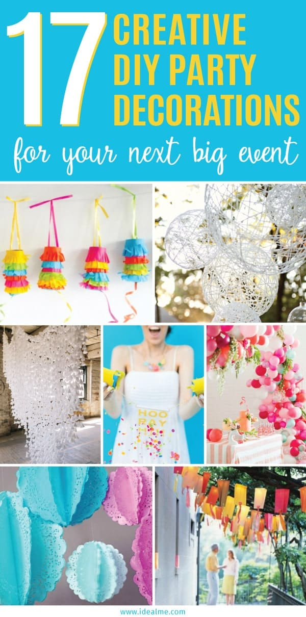 15 Creative DIY Decorations for Your Next Big Event Ideal Me