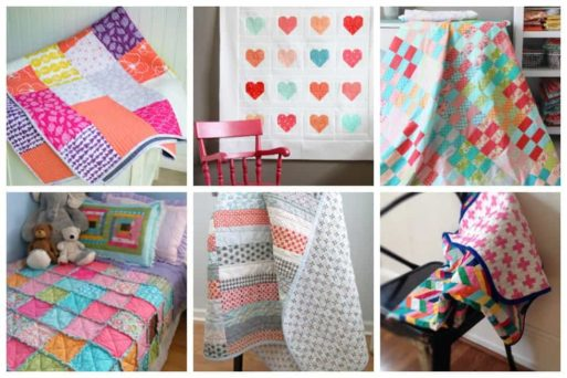 15 Simple and Beautiful Quilt Patterns for Beginners - if you can follow directions and sew a straight line then you'll be a quilter before you know it.