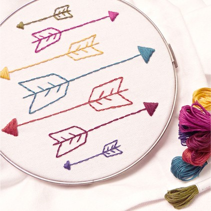 15 easy hand embroidery patterns perfect for gift giving ideal me sublime stitching arrow embroidery pattern dt1010fo
