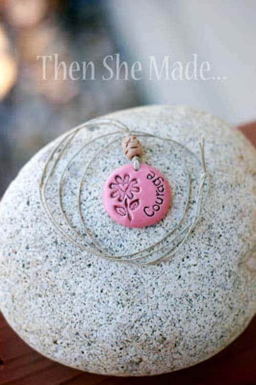clay polymer word pendant Jewelry