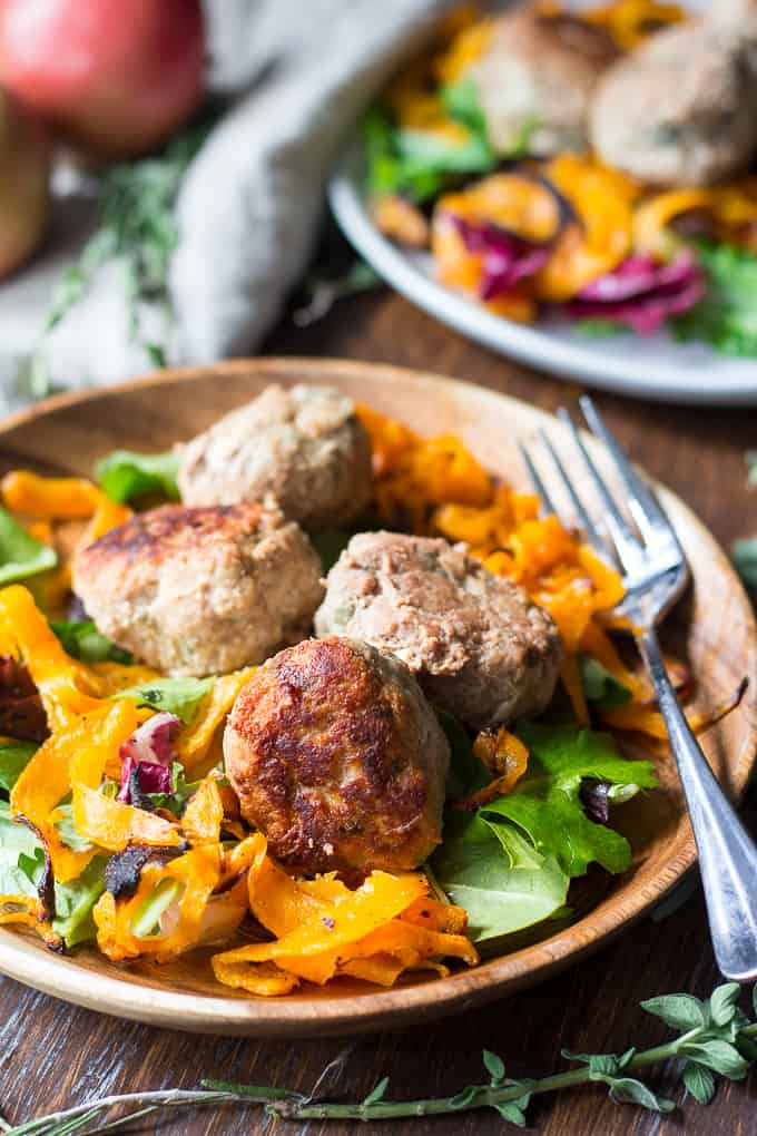 Easy Paleo Turkey Meatballs with Apples & Savory Herbs - quick paleo recipes
