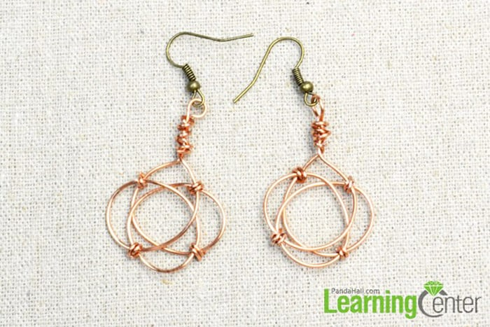Celtic Knot Earrings with Copper Wire - celtic knot