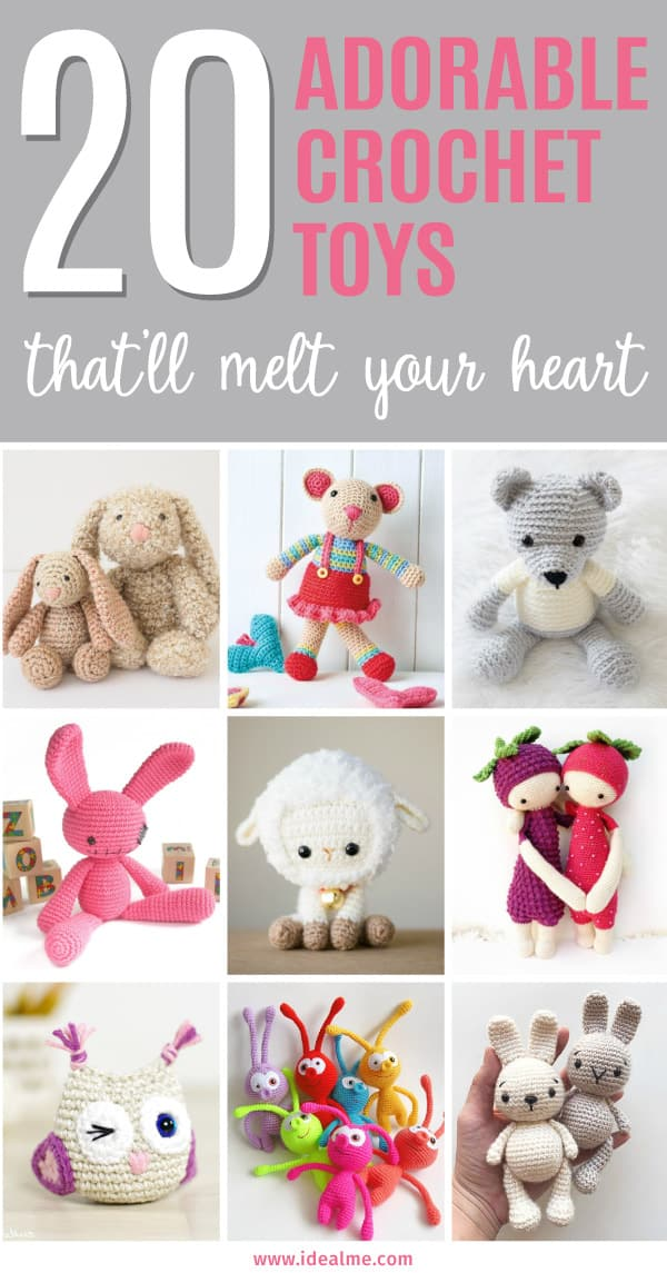 Here are 20 easy and adorable crochet toys that'll melt your heart - you need only basic crochet skills and small amounts of yarn.Makes a perfect gift.
