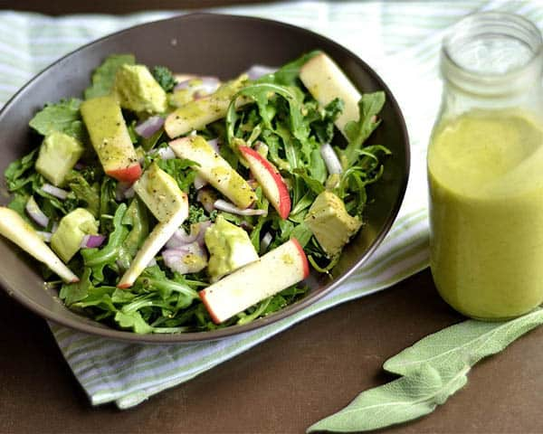 Sweet Basil Vinaigrette - paleo salad dressings