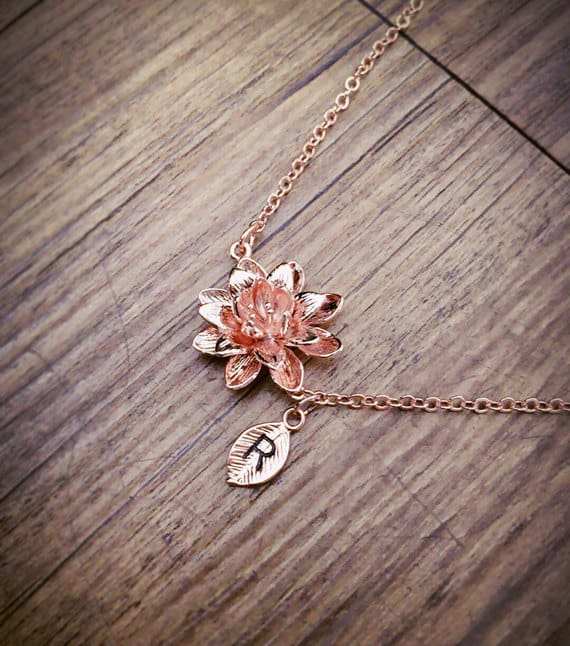 lotus necklace - yoga gifts