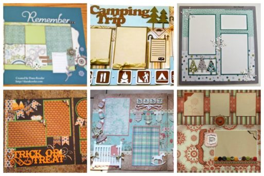 We've scoured the web for these 17 scrapbook templates that you can base your own pages off of.