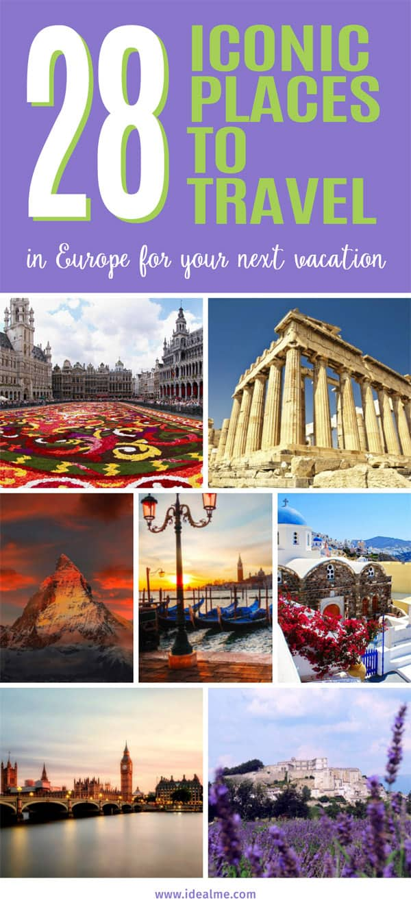 28 places to travel in Europe
