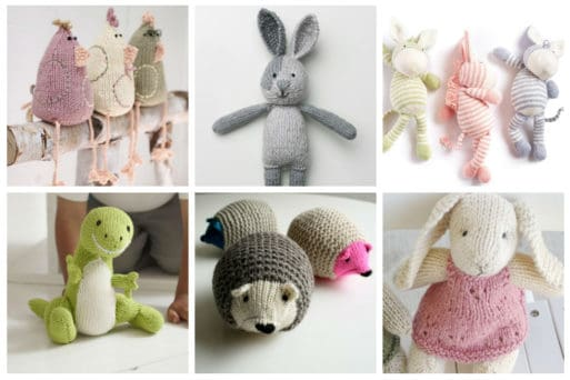 We've scoured the internet and found 17 unbelievably cute toy knitting patterns. These handmade knit toys are sure to put a smile on any little girl or boy's face.