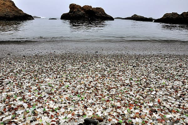 Glass Beach, California, USA - unique travel destinations
