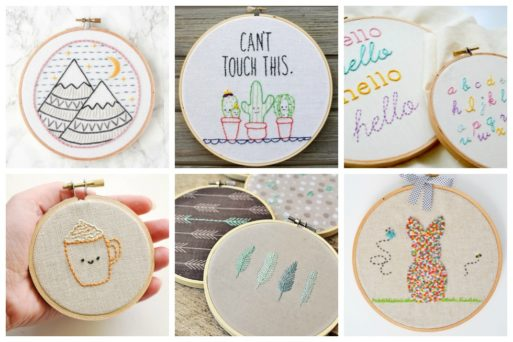 If you're a beginner and looking for some easy patterns, check out our 17 fun projects that are a perfect way to learn embroidery. Thes patterns are perfect for practicing some of the easiest and most basic embroidery stitches.