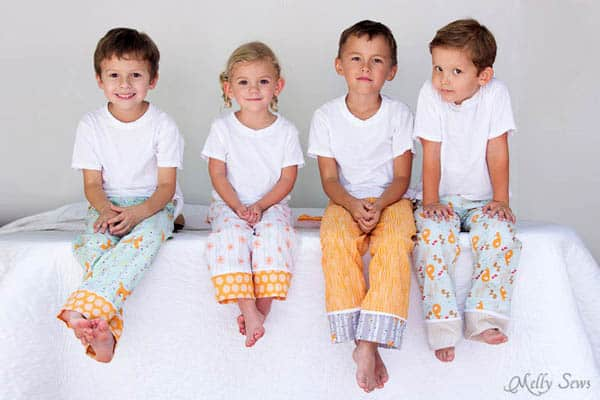 Kid's Pajama Pants - how to sew clothes