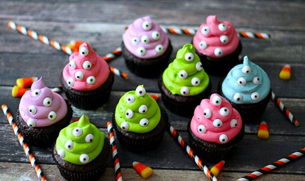 Monster Cupcakes - cupcake decorating ideas