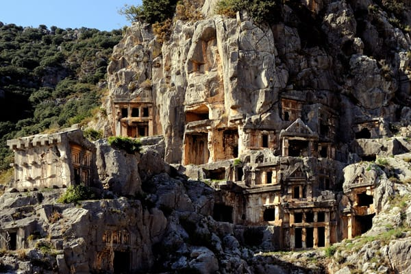 Myra Rock Tombs, Lycia, Turkey - unique travel destinations