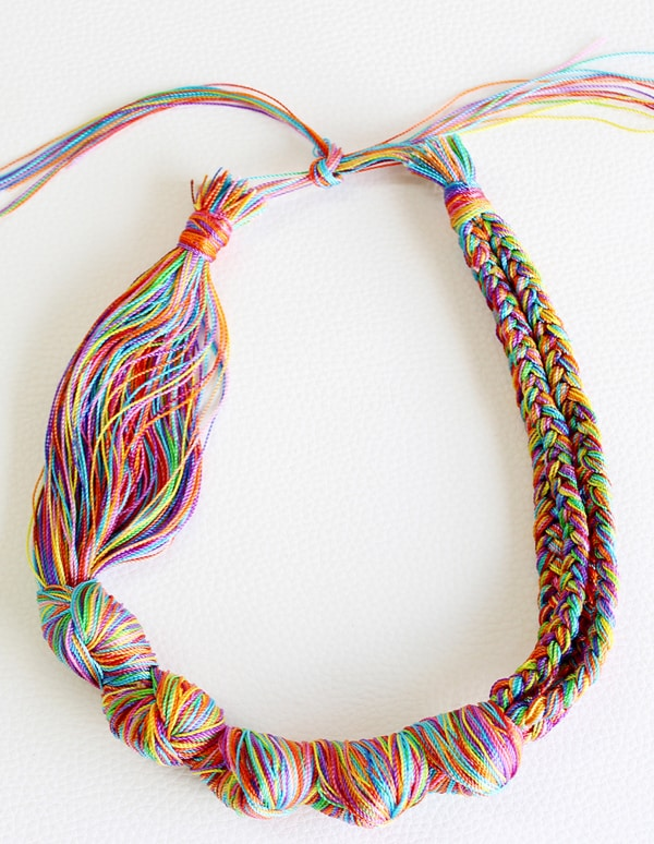 Statement Embroidery Threads Necklace - jewelry ideas