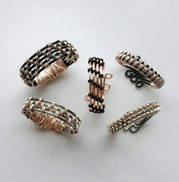 Woven Wire Rings - jewelry ideas