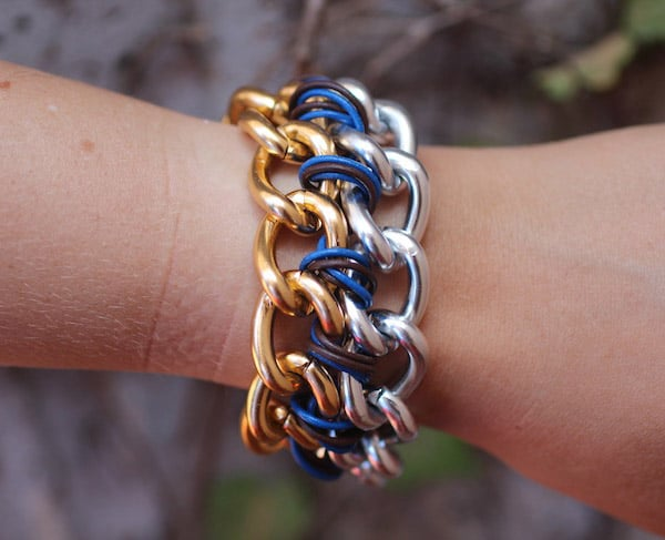 Cc Skye-Inspired Two Tone Chain Bracelet - easy DIY bracelets