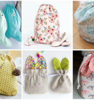 17 Easy Drawstring Bag Patterns to Sew In One Hour or Less