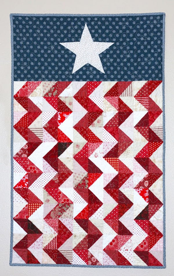 Patriotic Quilt Wall Hanging - cheveron quilt patterns