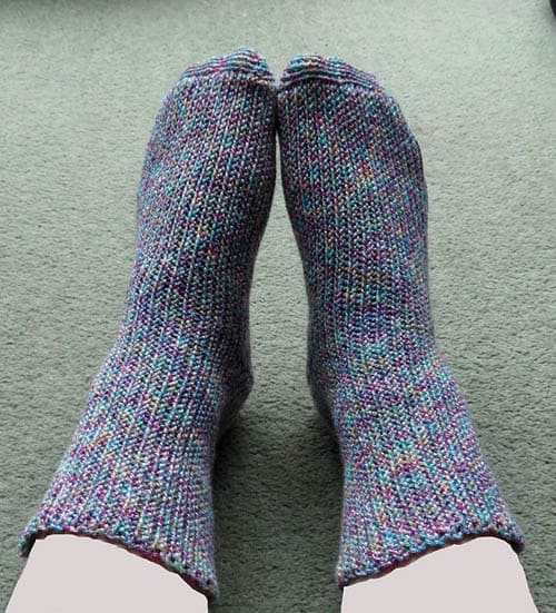 Stretchy Knitted-Effect Crochet Socks