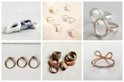 Simple DIY rings that you can easily make in less than an hour or even 5 minutes, but can greatly accentuate your whole look!