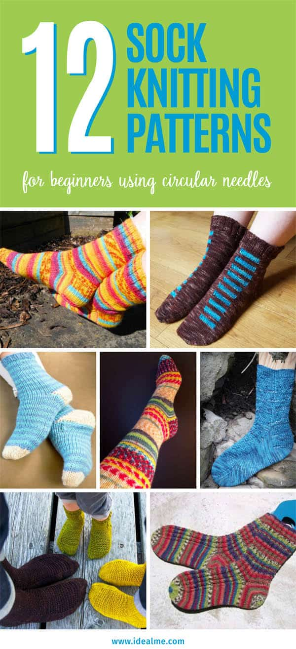 12 sock knitting patterns for beginners using circular