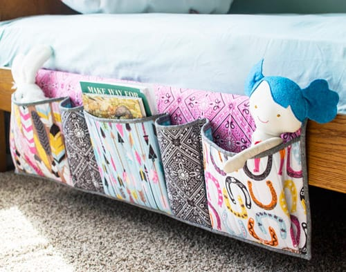 Bedside Pockets Organizer - DIY sewing projects