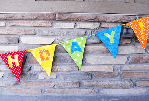 Birthday Banner - simple sewing projects