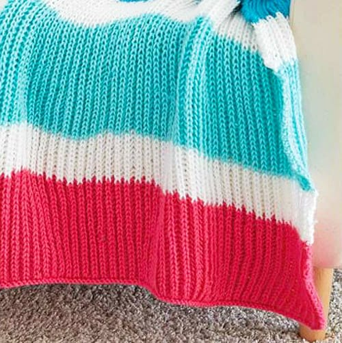 Bold Stripes - free baby blanket knitting patterns