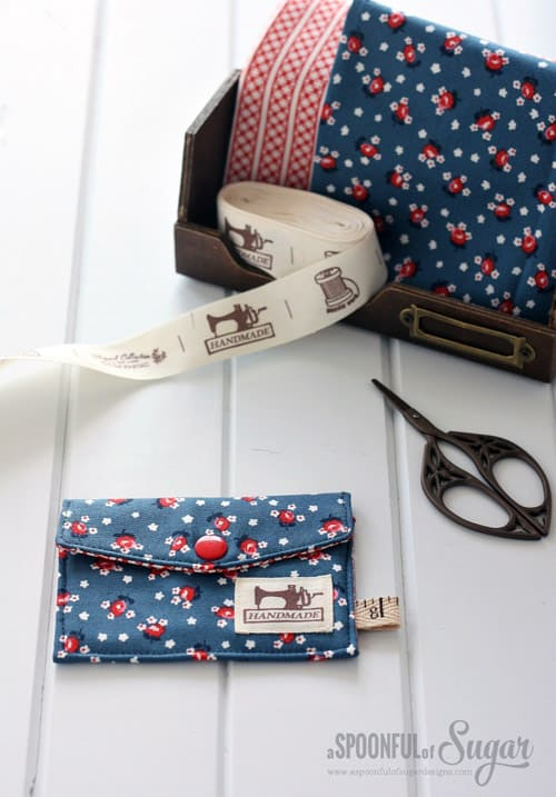 Business Card Wallet - simple sewing projects