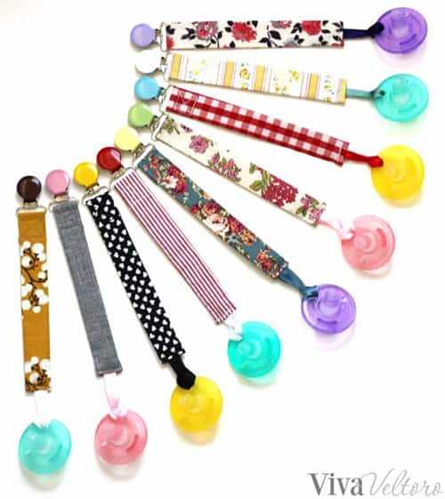 DIY Pacifier Clips - simple sewing projects