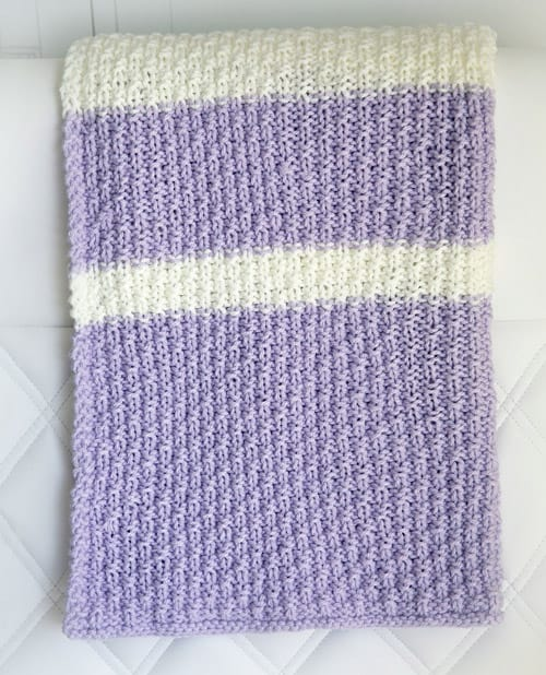 Easy Knit - free baby blanket knitting patterns