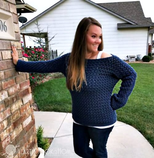 Easy Peasy Lemon Squeezy Pullover - free crochet sweater patterns