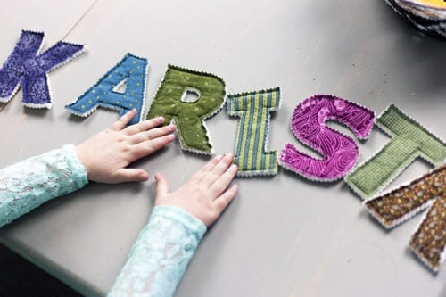 Fabric Alphabet - simple sewing projects
