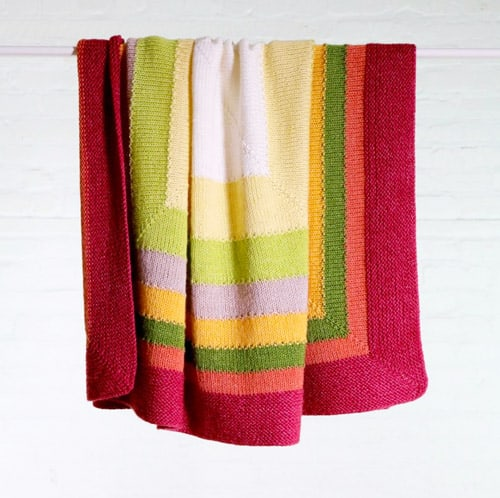 Fair & Square - free baby blanket knitting patterns