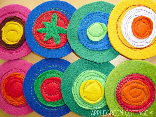 Felt Coasters - DIY sewing projects