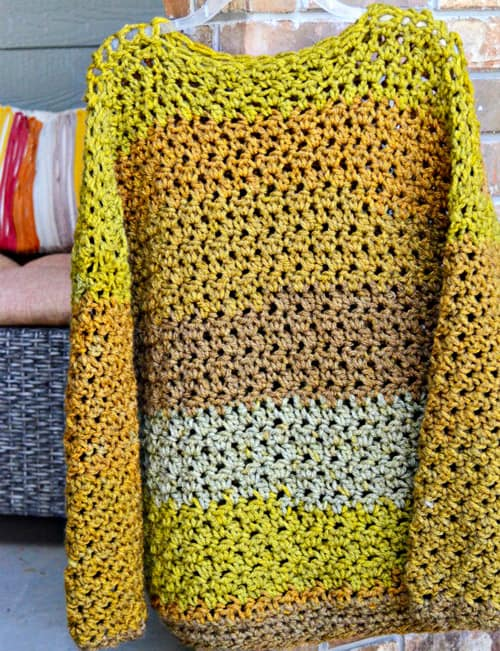Four-Hour Fall Sweater - free crochet sweater patterns