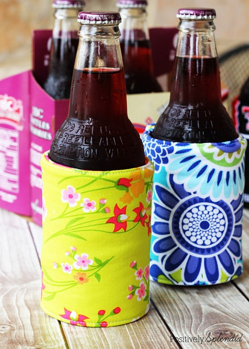 Insulated Beverage Holders (Koozies) - simple sewing projects
