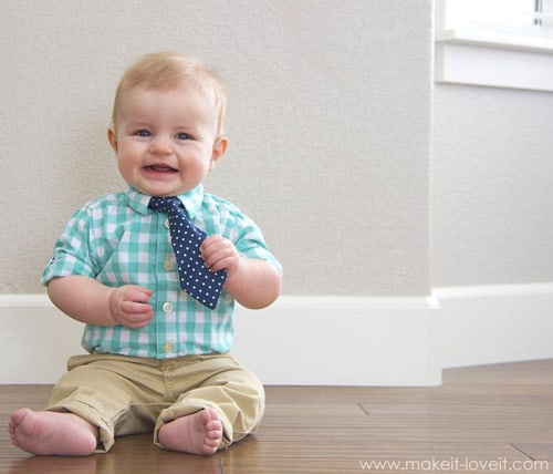 Little Guy Tie - simple sewing projects