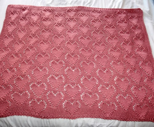 Lots of Love - free baby blanket knitting patterns