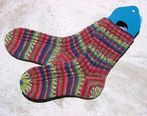 Mini Cable Spirals - sock knitting patterns