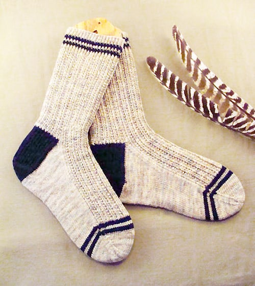 Ribes Jumeaux - sock knitting patterns