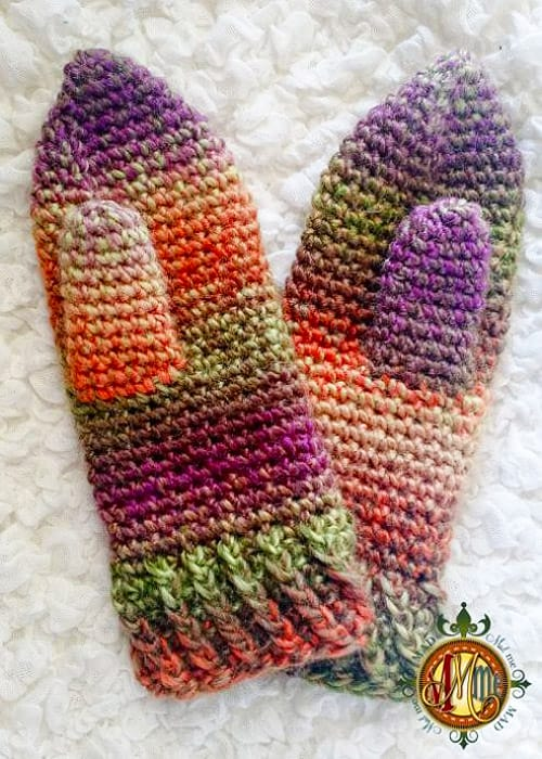 Twisted - crochet mittens