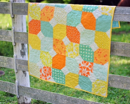 Citrus and Mint - easy baby quilt patterns
